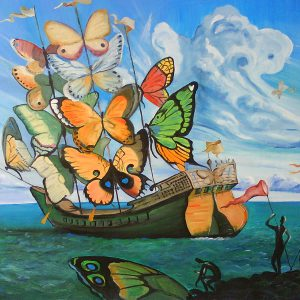 Vladimir Kush - Butterfly ship